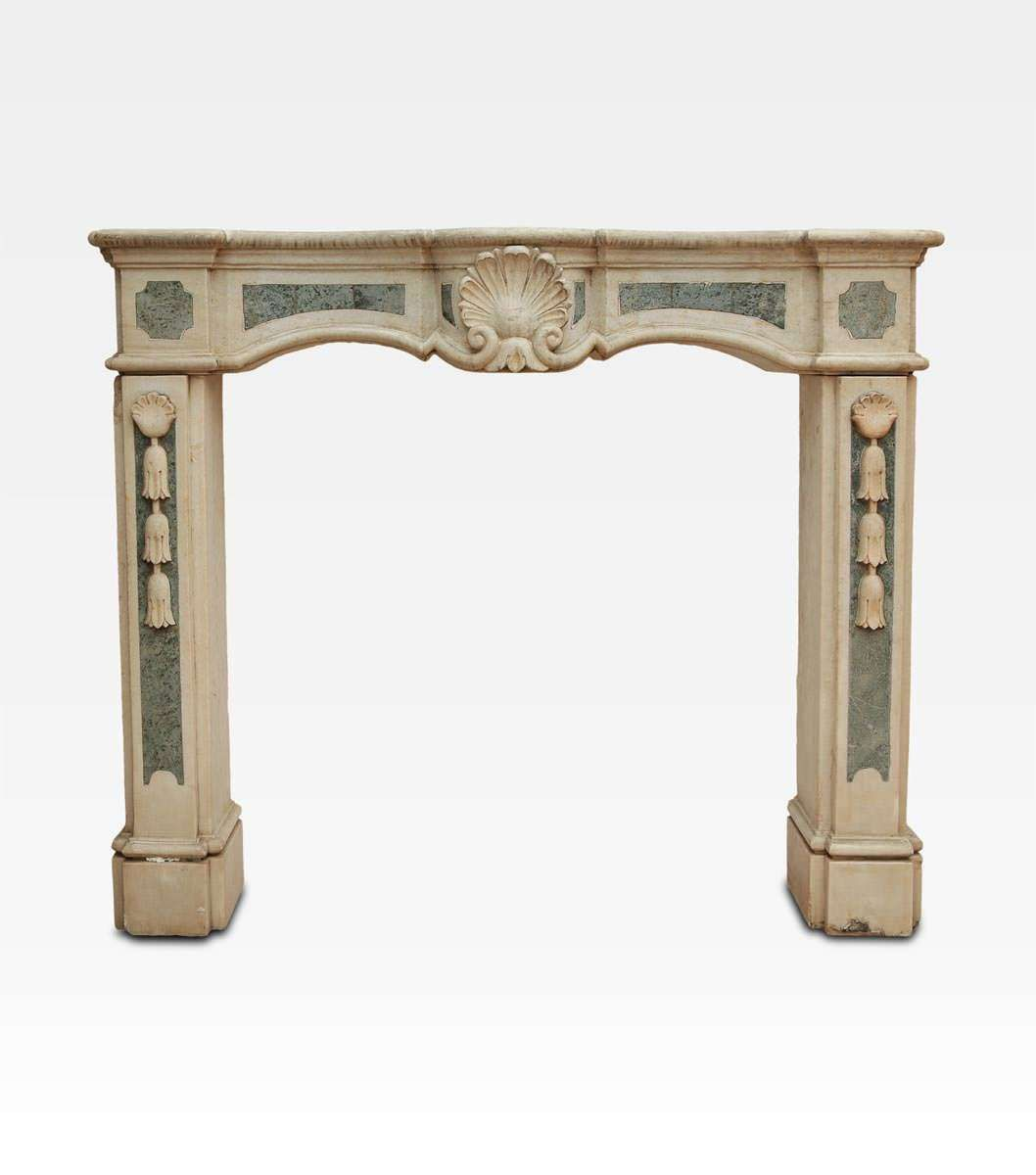 Ancient Italian Marble Fire Place